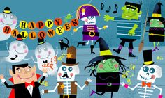 Halloween Characters by Ed Miller Design, via Behance