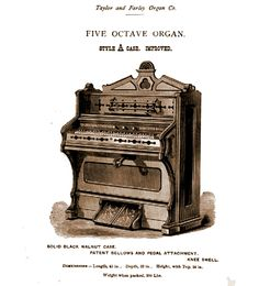 Taylor & Farley - 1M Five Octave Reed Organ. Style A Case