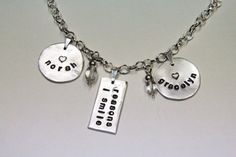 Upcycled Personalized Aluminum Handstamped by SimplyStacyDesigns, $38.00