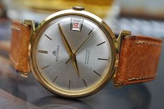ab36a70e2c3 Bucherer Automatic Gold Plated Gents Vintage Watch c1970 s-Stunning Piece