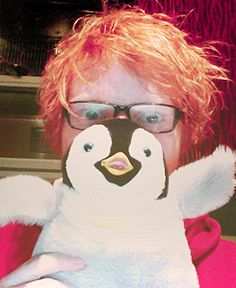 Ed Sheeran w/ Penguin.