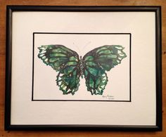 Butterfly print  Green by TheChickenKoop on Etsy