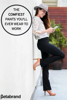 <<SPECIAL OFFER: 20% Off Dress Pant Yoga Pants! Click the Pin Above>> Whether it's a 10 a.m. work deadline or rushing off to a workout class, Betabrand's dress pant yoga pants are as flexible as your schedule. Designed in a soft, stretchy performance knit with dress-pant stylings, these pants are outwardly professional and discretely functional. Shop our various styles and colors and take 20% off your first pair today!
