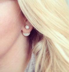 Mise en Dior Double Pearl Earrings by PurrLuxe on Etsy, $20.18