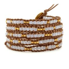 New vintage style friendship weaving leather wrap african jewelry natural stone bead handmade bracelet adjusted size CL-457 *** You can find out more details at the link of the image.