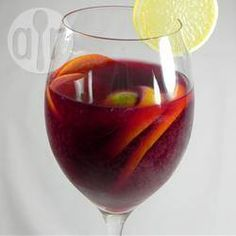 "Classic Spanish Sangria I ""OH MY! This was fabulous! I used the spiced rum and along with the citrus I added some plum slices. If you desire a less potent Sangria cut the rum in half. The flavor is still wonderful. Spanish Sangria Recipe, Best Sangria Recipe, Homemade Sangria, Sangria Recipes With Rum, Cocktail Recipes, Cocktail Ideas, Margarita Recipes, Refreshing Drinks, Yummy Drinks"