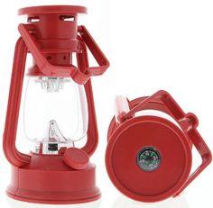 SE FL807-15R 15 Led Hurricane Camping Lantern Red