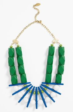 DAVID AUBREY 'Clara' Block Statement Necklace available at #Nordstrom