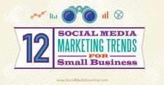 12 Social Media Marketing Trends for Small Business  By Suzanne Delzio Published June 9, 2015