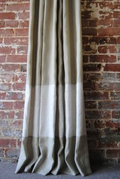 tan + white two-tone drapes