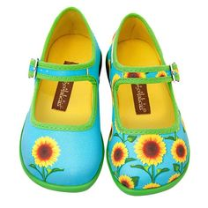 Hot Chocolate Design Mini Chocolaticas Sunflower Girls Mary Jane Flat#Printed fabric upper. Soft fabric inner. Non marking rubber sole Cushioned inner sole for maximum comfort Vibrant colors and Quality prints Renowned for its unique design shoes More styles coming soon✿❤Thank❤You✿I❤❤❤You❤✿