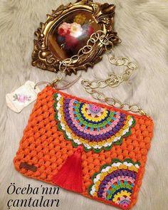 Crochet Clutch, Crochet Handbags, Crochet Purses, Cute Crochet, Crochet Baby, Knit Crochet, Crochet Basket Pattern, Crochet Patterns, Loom Bracelet Patterns
