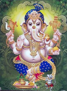 Today is Vighnaraja Sankashti Chaturthi. It is one of the 13 Sankashtahara Chaturthi Vrathams. It is believed that people those who observe vrat and offer special pujas to Lord Ganesha on Sankashti Chaturthi will get relief from all problems in life. Ganesh Images, Ganesha Pictures, Lord Krishna Images, Arte Ganesha, Shri Ganesh, Shiva Art, Hindu Art, Indian Gods, Indian Art