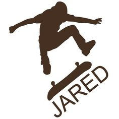 Wall Decal Personalized Skate Board