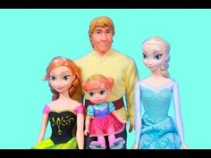 Elsa Teaches Young Anna how to Ice Skate Barbie Parody Kristoff Disney Frozen Queen Elsa