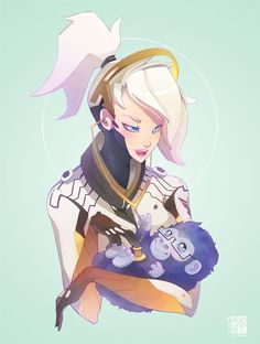 overwatch mercy best medicine is her phat white ass