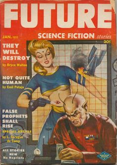Not Quite Human – Pulp Covers