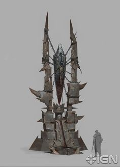 Shadow of War Orc Tribes Concept Art Fantasy Concept Art, Game Concept Art, Dark Fantasy, Fantasy Art, Environment Concept Art, Environment Design, 2d Game Art, Wargaming Terrain, Fantasy Places