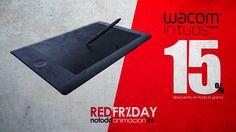 REDFRIDAY: WACOM INTUOS PRO DESCUENTAZO  Por fin, hoy engrosamos nuestra lista Red Friday de productos para Artistas Digitales con la gama Intuos Pro de Wacom y lo hacemos con un interesante 15%.