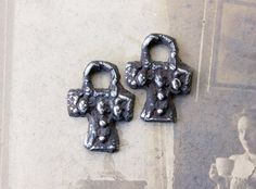 Gothic Cross Charms  Handmade HandCast Metalwork by Inviciti #handcrafted #jewelry #supplies