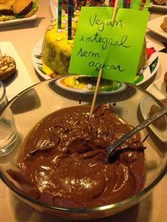 Mousse de chocolate {vegan, integral, sem açucar, crua}