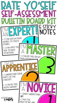 Raise your students' level of engagement with this quick and easy self assessment.  Use the bulletin board to form quick, on-the-spot groups or attach smaller self-assessment sticky notes to student desks for easy check-ins. 4th Grade Classroom, Classroom Freebies, Classroom Community, Science Classroom, Future Classroom, Classroom Ideas, Student Self Assessment, Formative Assessment, Student Feedback