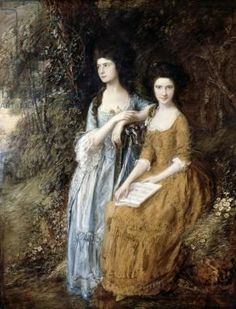 The Linley Sisters (Mrs. Sheridan and Mrs. Tickell) 1771/72 (oil on canvas), Gainsborough, Thomas (1727-88)