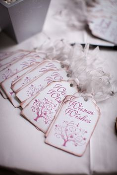 gift tags. So cute.  Would be cute as a wedding favor over a tea bag or something.  Already married but still really cute!