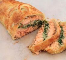 Recette - Saumon wellington en croute feuilletée - Notée 4.2/5 par les internautes