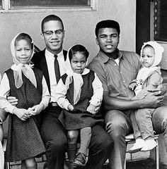 Two legends of the American human rights struggle. Malcolm X, Muhammad Ali and their children. May Allah grant Malik el-Shabbaz jannah, and may He grant Muhammad Ali excellent health. Malcolm X, Black History Facts, Black History Month, History Pics, History Images, Family History, Muhammad Ali, Black Power, Kings & Queens