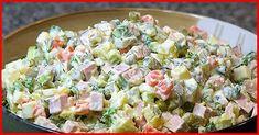 Ensaladilla rusa light/ Spanish Russian Salad with tuna Dutch Recipes, Hungarian Recipes, Greek Recipes, Imitation Crab Salad, Creamy Potato Salad, Salad Recipes, Healthy Recipes, How To Make Salad, No Cook Meals