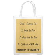 Gladiator Shopping Bag Olivia's List Grocery Bags