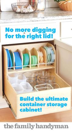 It's always a challenge to find matching containers and lids. This rollout solves the problem by keeping them all neatly organized and easily accessible. The full-extension drawer slides are the key. To simplify tricky drawer slide installation, we've designed an ingenious carrier system that allows you to mount the slides and make sure everything is working smoothly before the unit is mounted in the cabinet. #kitchendesign #kitchenstorage