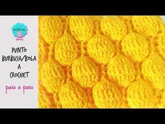 Punto burbuja/bola a crochet - para mantas,prendas de vestir, bufandas - YouTube Crochet Stitches, Knit Crochet, Crochet Hats, Knitting Videos, Crochet Videos, Wool Thread, Crochet Jacket, Diy And Crafts, Pattern