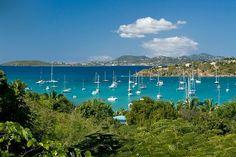 Stunning view...  Idyllic Villa - St. John US Virgin Islands Vacation Rental - Click for details...