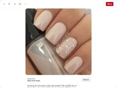 Hunting for the best nude nail polish? My HUGE list of the best nude nail polish color inspiration. Check out these perfect nude nails! Hair And Nails, My Nails, Polish Nails, Gems On Nails, Nail Polishes, Nailed It, Uñas Fashion, Fashion Spring, Fashion Ideas