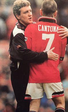 Steve Bruce & Eric Cantona