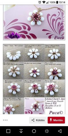 Beading Patterns Free, Beaded Jewelry Patterns, Embroidery Jewelry, Bead Jewellery, Wire Jewelry, Jewelry Crafts, Beading Projects, Beading Tutorials, Bead Earrings