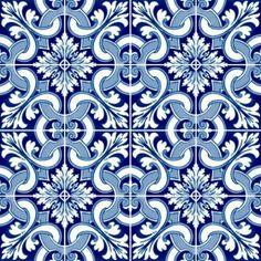 KIT Adesivo Azulejo Portugues Tile Patterns, Textures Patterns, Decoupage, Encaustic Tile, Tile Projects, Portuguese Tiles, Moroccan Tiles, Kitchen Tiles, Backdrops
