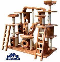 Now that's cat tree! Cat Tree House, Cat House Diy, Cat Habitat, Cat Tree Plans, Cat Castle, Cat Heaven, Diy Cat Tree, Cat Towers, Cat Playground