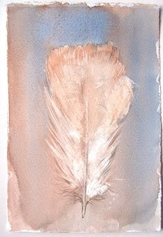 Feather painting original/ Watercolor feather by rakla on Etsy