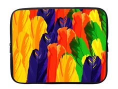 Colour Feather Laptop Sleeve with Webbing Handles