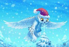 Christmas Owl by DolphyDolphiana on DeviantArt