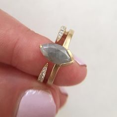 Attic gold diamond ring