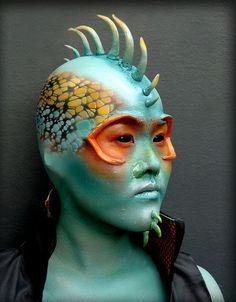 10 Spooky Makeup Looks for the Halloween Fanatic Prosthetic Makeup, Sfx Makeup, Costume Makeup, Makeup Art, Fish Makeup, Alien Make-up, Vancouver, Bald Cap, Artistic Make Up