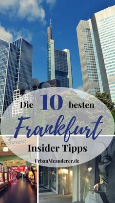 Beyond the tourist masses – and thus away from Zeil and Römer – Frankfurt am Main shows its very best side. Exactly why I describe here the 10 best Frankfurt insider tips or insider tips that you should definitely have on your list! Europe Destinations, Bucket List Destinations, Les Continents, Frankfurt Germany, Blog Voyage, Germany Travel, Solo Travel, Urban, Adventure Travel