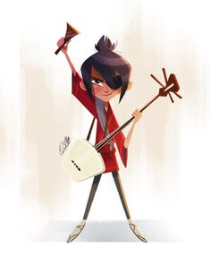 Kubo and his shamisen from Kubo and the Two Strings