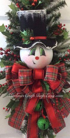 Bonhomme de neige et de tintement de cloches par MarlenesCraftShop