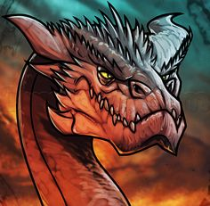 how to draw smaug easy