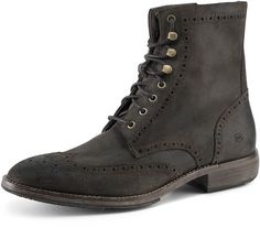 19742d206 Andrew Marc Hillcrest Perforated Detail Suede Boot